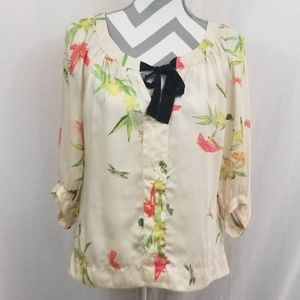 H&M Silky Floral Blouse